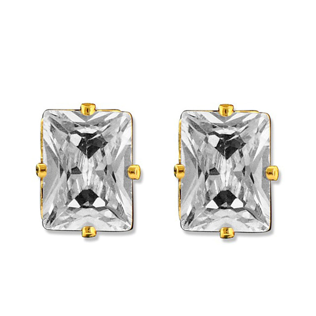 Diamonice 8.00 MM Cubic Zirconia Stud Earrings