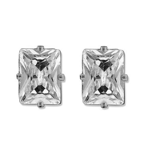 8.00 MM Cubic Zirconia Stud Earrings