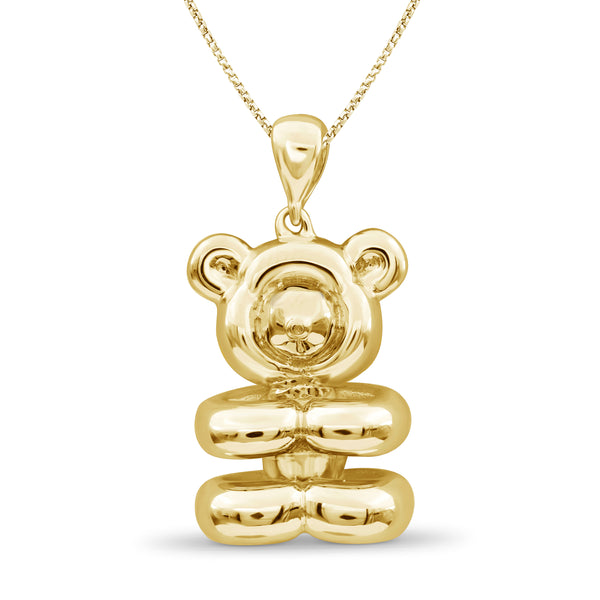 JewelonFire Sterling Silver Teddy Metal Pendant - Assorted Color