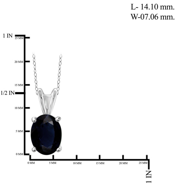 JewelersClub 1.90 Carat T.G.W. Sapphire Sterling Silver Fashion Pendant - Assorted Colors