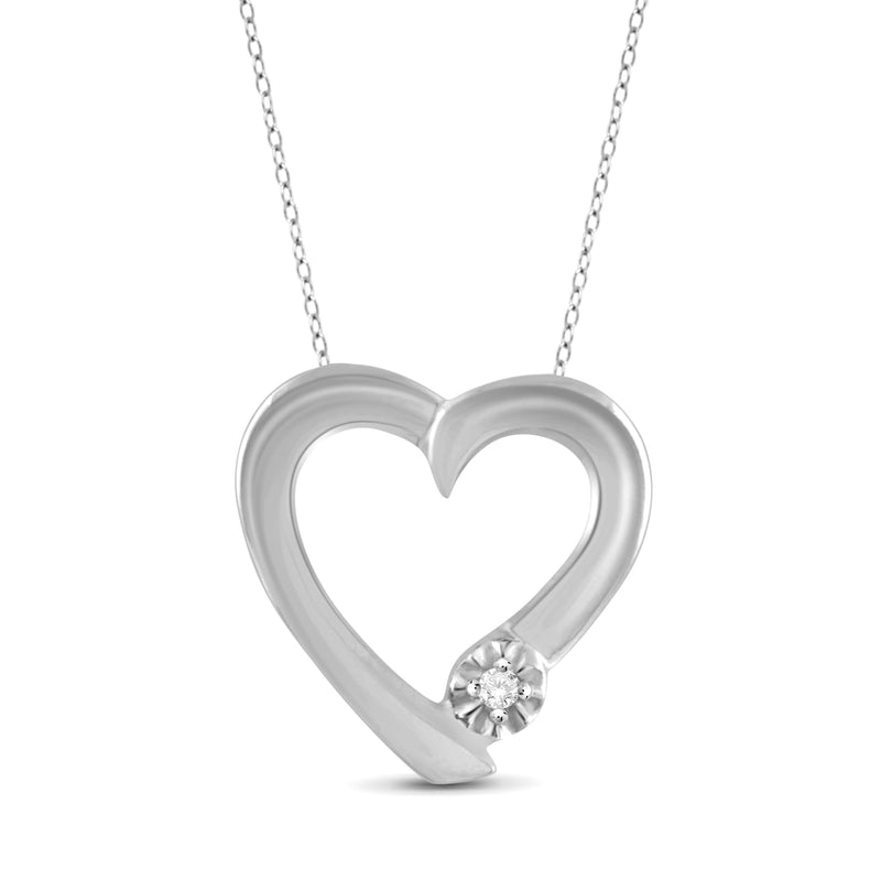JewelersClub True Love White Diamond Accent Sterling Silver Heart Pendant - Assorted Colors