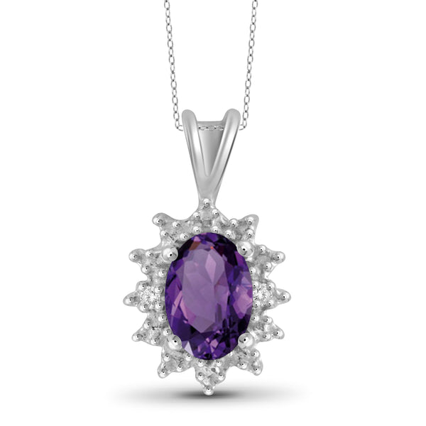 JewelersClub 1/2 Carat T.G.W. Amethyst Sterling Silver Pendant - Assorted Colors