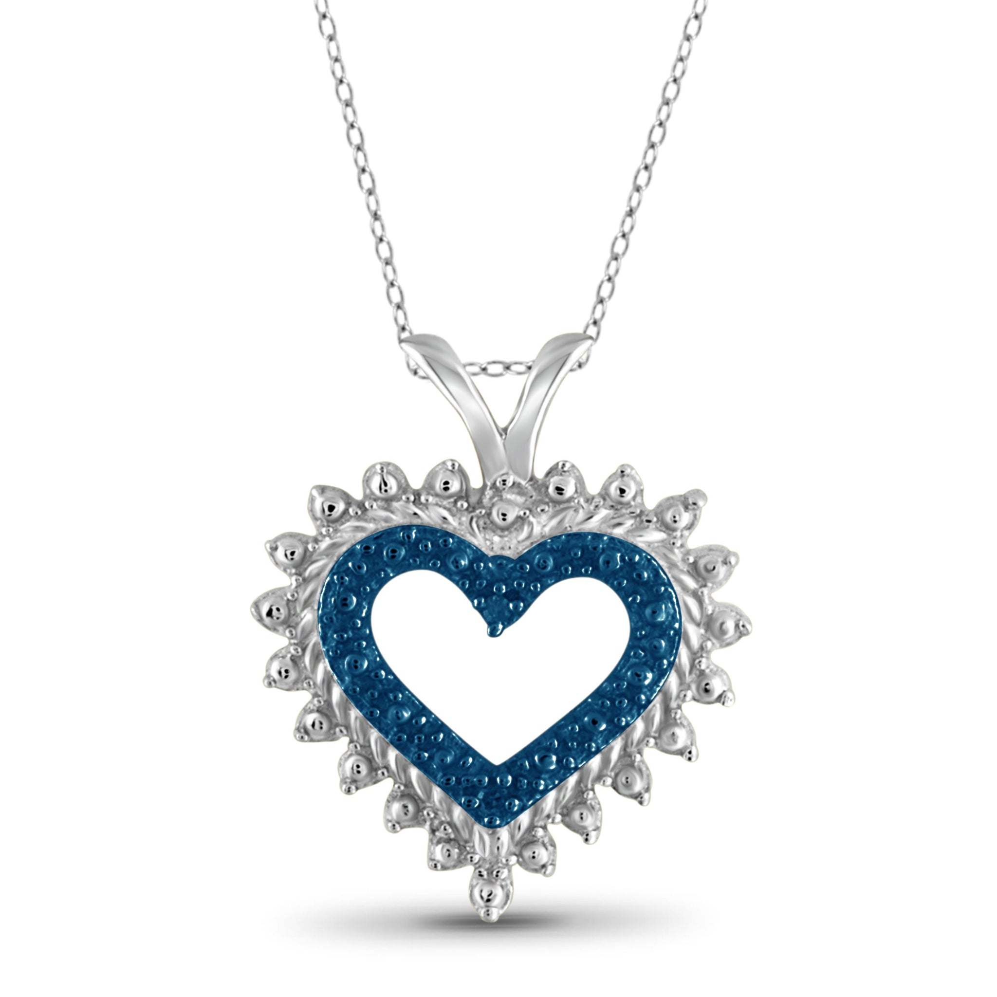 JewelersClub Blue Diamond Accent Sterling Silver Heart Pendant
