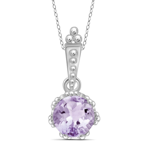 JewelersClub 1 1/5 Carat T.G.W. Pink Amethyst Sterling Silver Pendant - Assorted Colors