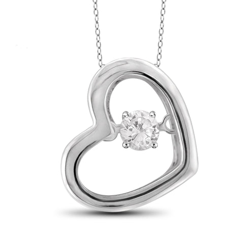 Diamond in the Sky White Diamond Accent Sterling Silver Heart Pendant