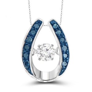 Diamond in the Sky 1/7 Carat T.W. Blue & White Diamond Sterling Silver Pendant
