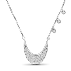 JewelersClub 1/4 Ctw White Diamond Sterling Silver Layer Necklace - Assorted Colors