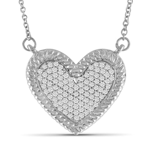JewelersClub 1/4 Carat T.W. White Diamond Sterling Silver Heart Pendant - Assorted Colors