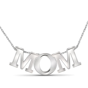 JewelersClub Sterling Silver Mom Pendant - Assorted Colors