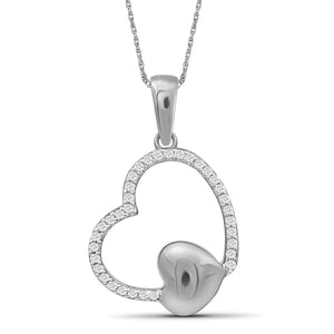 JewelersClub 1/10 Carat T.W. White Diamond Sterling Silver Heart Pendant - Assorted Colors