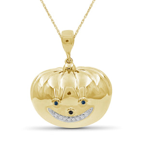 JewelersClub 1/10 Ctw Multicolor Diamond 14k Gold Over Silver Emoji Pendant