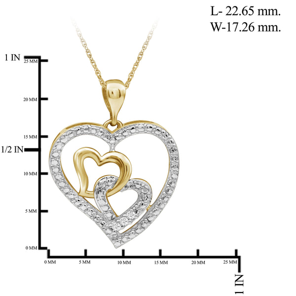 JewelersClub Accent White Diamond Sterling Silver Heart Pendant - Assorted Colors