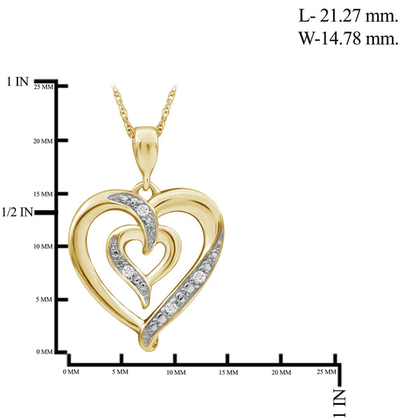 JewelersClub 1/20 Carat T.W. White Diamond Sterling Silver Heart Pendant - Assorted Colors