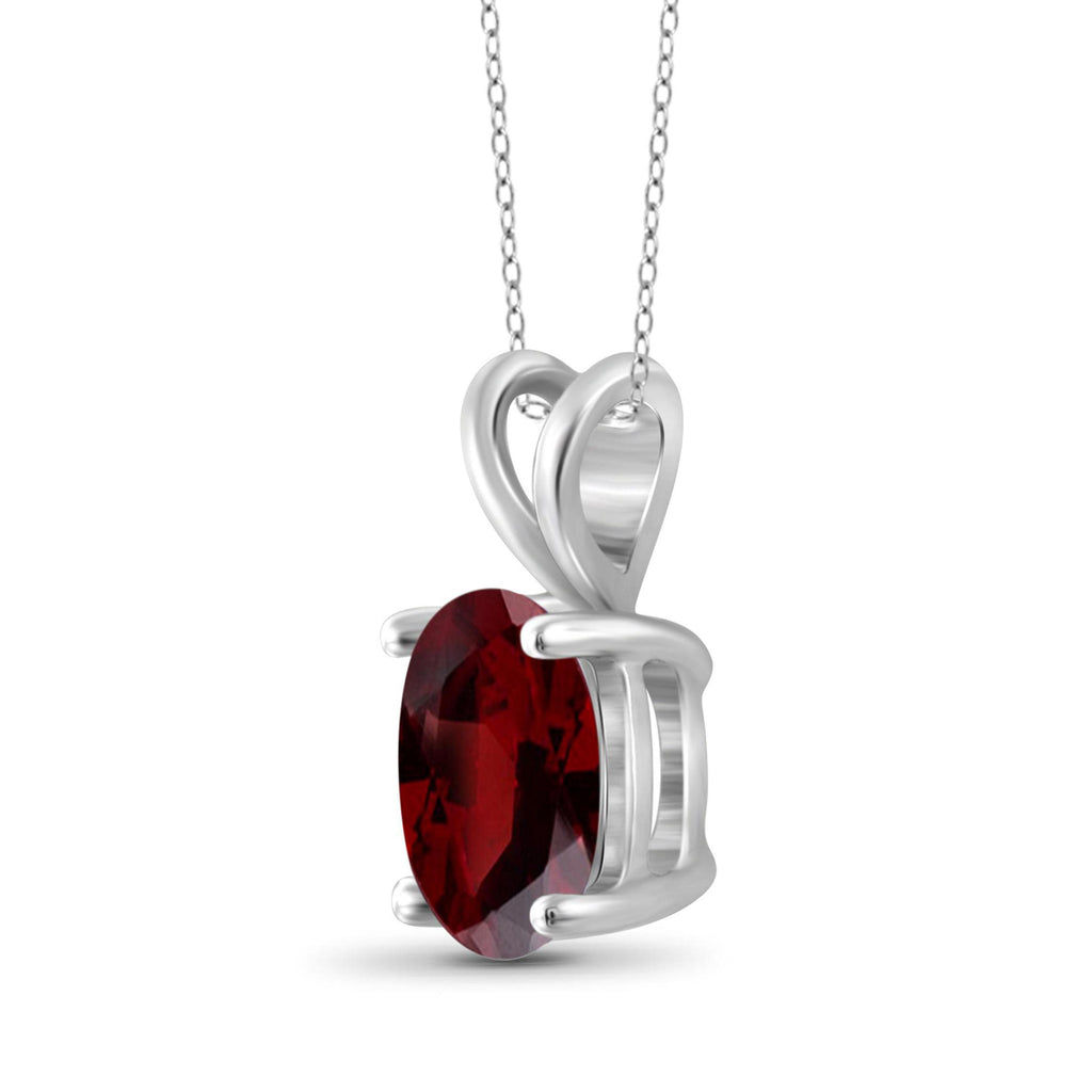 JewelersClub 2.15 Carat T.G.W. Garnet Sterling Silver Pendant - Assorted Colors