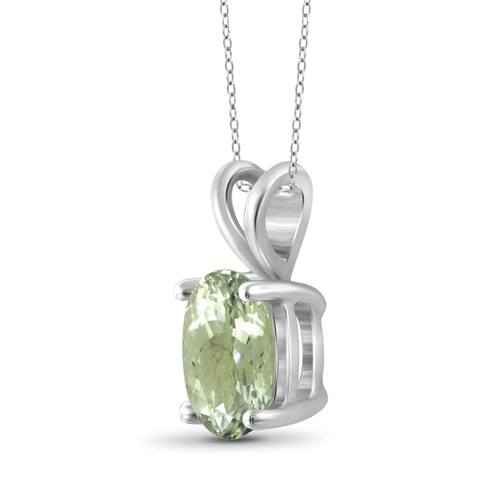 JewelersClub 1.85 Carat T.G.W. Green Amethyst Sterling Silver Pendant - Assorted Colors