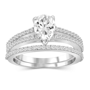 White Cubic Zirconia (AAA) Sterling Silver Ring - Assorted Colors