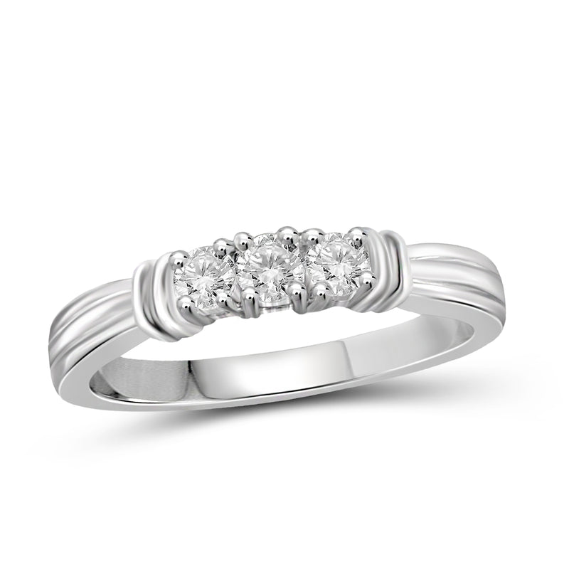 JewelersClub Accent Diamond Sterling Silver I Love You Ring