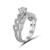 Diamonice White Cubic Zirconia (AAA) Sterling Silver Ring - Assorted Colors