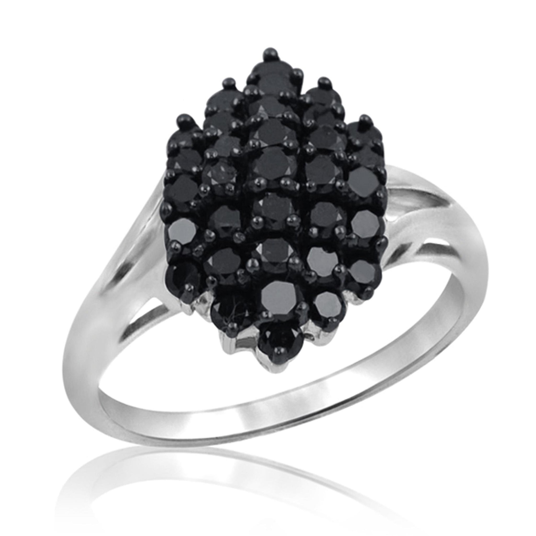 JewelersClub 1 CTW Black Diamond Sterling Silver Ring