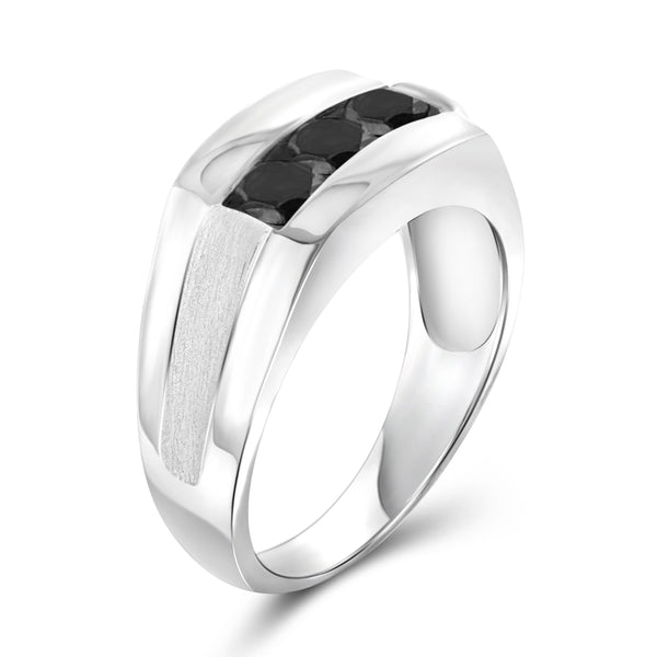 JewelersClub 1 Carat T.W. Black Diamond Sterling Silver Men's Ring