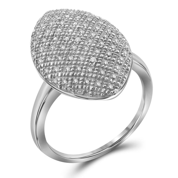 JewelonFire Accent Diamond Sterling Silver Ring