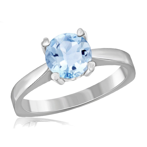 JewelonFire 1 1/2 Carat T.G.W. Sky Blue Topaz Sterling Silver Ring - Assorted Colors