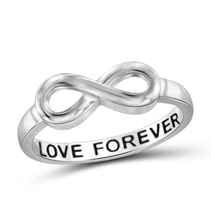 JewelersClub Sterling Silver Infinity Friendship Ring for Women | Personalized Love Forever Promise Eternity Knot Symbol Band
