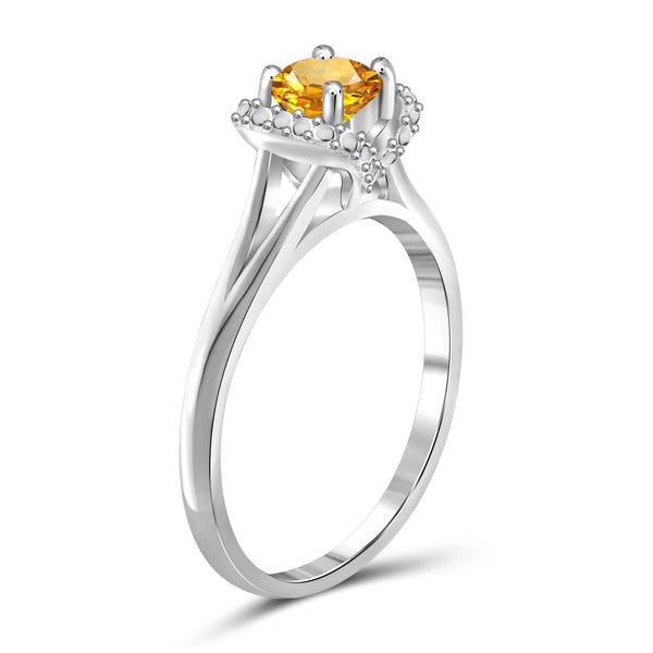 JewelersClub 1/2 Carat T.G.W. Citrine Sterling Silver Ring - Assorted Colors