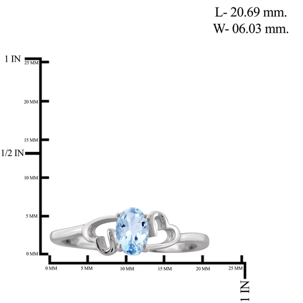 JewelersClub 1/2 Carat T.G.W. Sky Blue Topaz Sterling Silver Ring - Assorted Colors