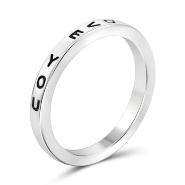 "JewelonFire Sterling Silver Lovingly Engraved ""I Love U"" Ring - Assorted Colors"