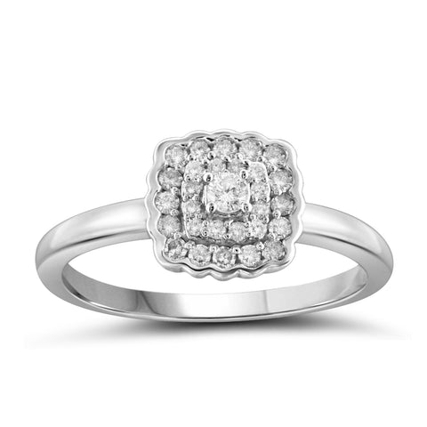 Jewelnova 1/4 Carat T.W. White Diamond 10K Gold Engagement Ring - Assorted Colors