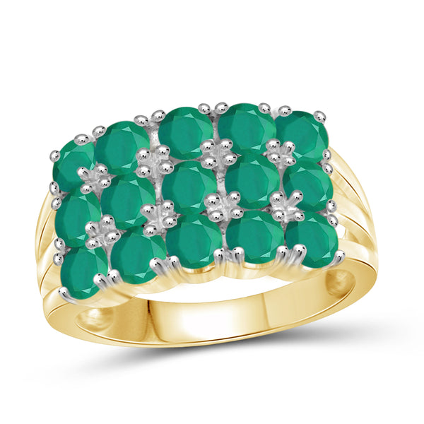 JewelersClub 2 3/4 Carat T.G.W. Emerald Sterling Silver Band- Assorted Colors