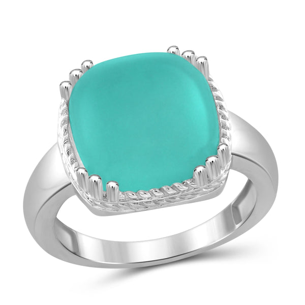 JewelonFire 6 3/4 Carat T.G.W. Chalcedony Sterling Silver Fashion Ring