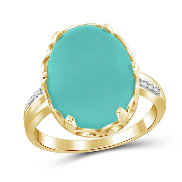 JewelonFire 9 3/4 Carat T.G.W. Chalcedony Sterling Silver Fashion Ring
