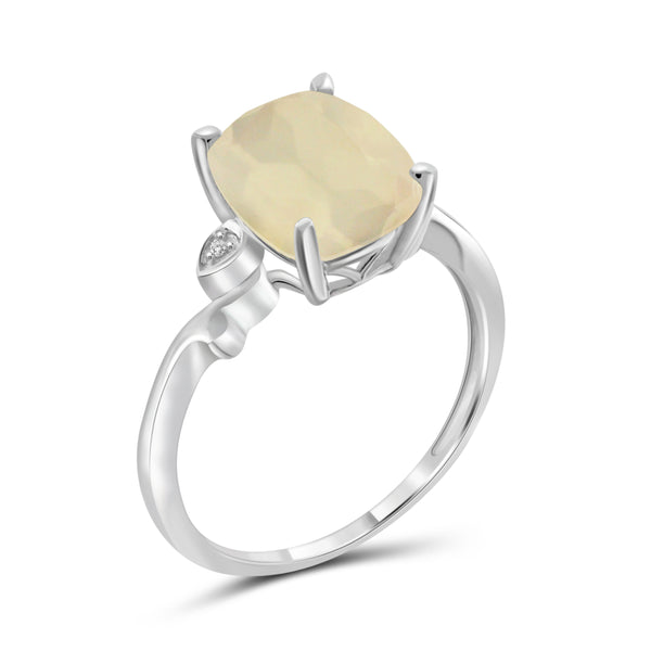 JewelersClub 3.00 Carat T.G.W. Moon and White Diamond Accent Sterling Silver Ring - Assorted Color