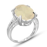 JewelersClub 8.20 Carat T.G.W. Moon And White Diamond Accent Sterling Silver Spilt Shank Ring - Assorted Colors