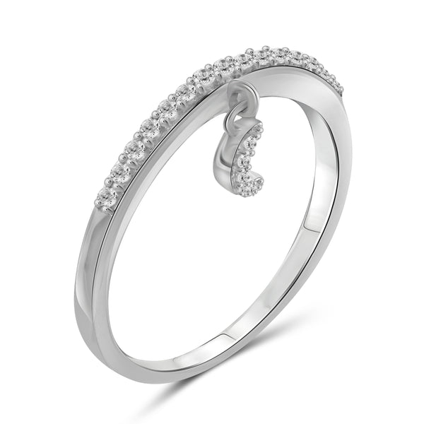 JewelersClub 1/5 Carat T.W. White Diamond Sterling Silver Moon Stackable Ring - Assorted Colors