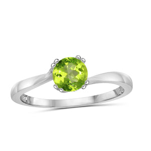 JewelonFire 1/2 Carat T.G.W. Peridot Sterling Silver Ring - Assorted Colors