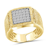 Jewelnova 1.00 Carat T.W. White Diamond 10k White Gold Men's Ring - Assorted Colors