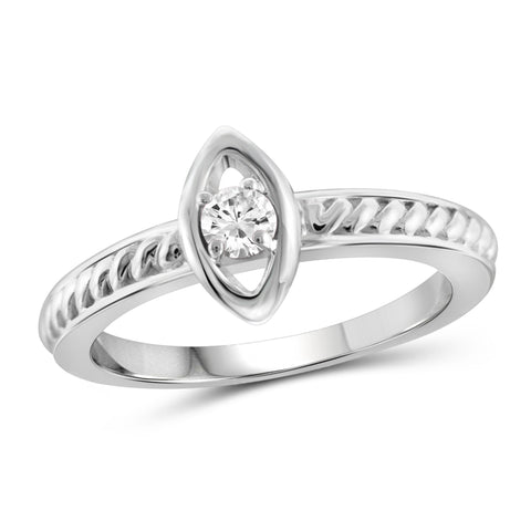 JewelersClub 1/10 Carat T.W. White Diamond Sterling Silver Marquies Stackable Ring - Assorted Colors