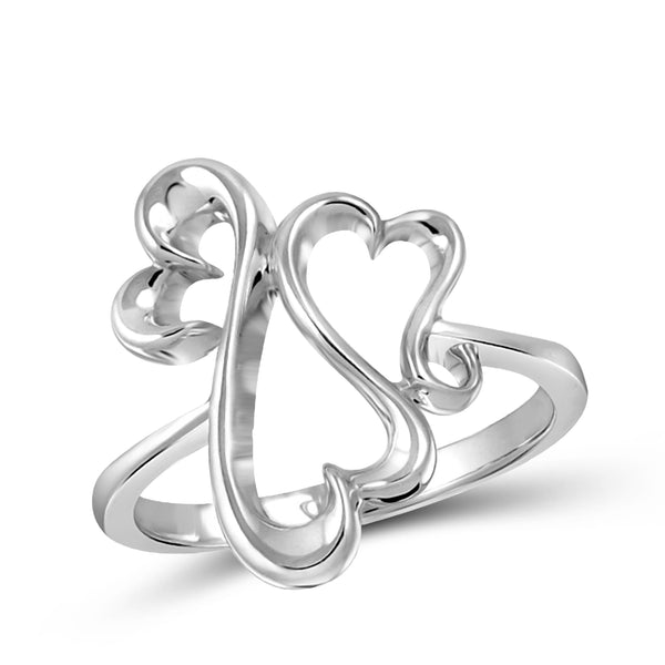 JewelersClub Sterling Silver Entwined Heart Ring - Assorted Colors