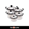 5 PIECES HIGH GRADE STAINLESS STEEL COOKWARE