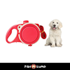 Dog Leash with Built-in Water Bottle & Bowl