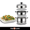 STAINLESS STEAM POT 3 PCS. SET