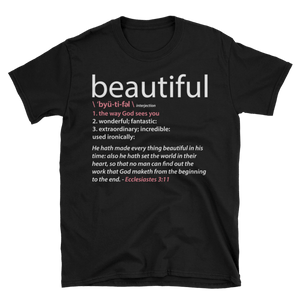 Positive Word Collection: Black Beautiful T-Shirt