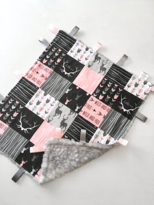 Pink Woodland Patchwork Lovey