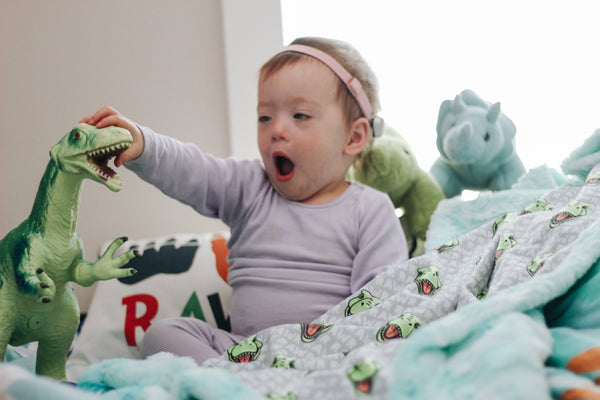 Rawrsome Rex Blanket - The Snuggly Geekling