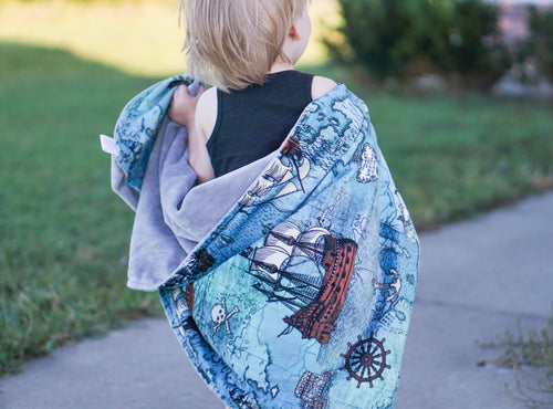 Pirate Ship Blanket - The Snuggly Geekling