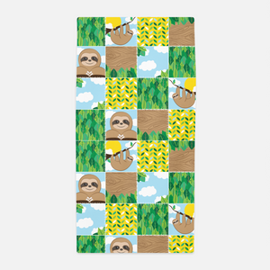Sloth Patchwork Towel