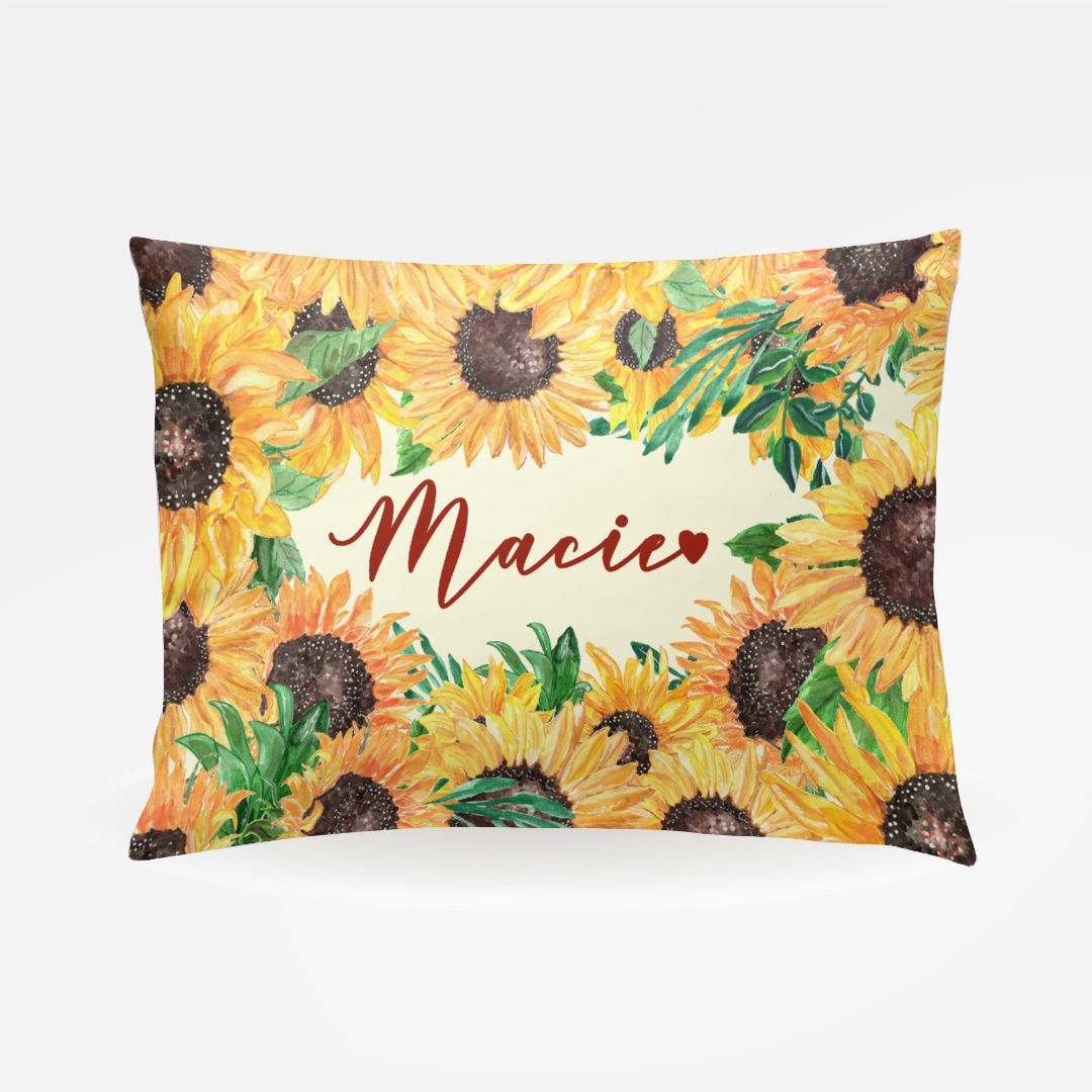 Personalized Sunflower Pillowcase